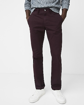 Express Mens Classic Fit Stretch Garment Dyed Chino