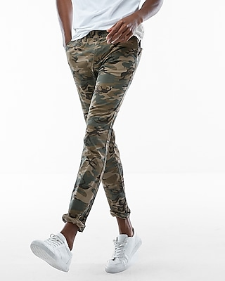 Express Mens Skinny Camo Stretch Chino Pant