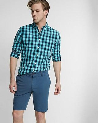 Slim Fit 9 Inch Flex Stretch Garment Dyed Twill Shorts