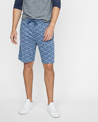Express Mens Ikat Vintage Fleece Drawstring Shorts