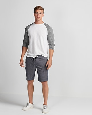 10 Inch Classic Fit Drawstring Stretch Shorts
