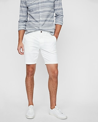 Men's Slim Fit 9 Inch Flat Front Shorts