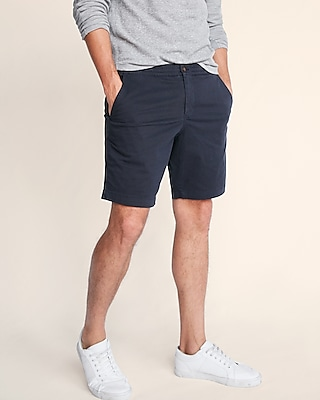 Express Mens Classic Fit 10 Inch Drawstring Stretch Shorts