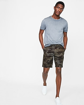 9 Inch Camo Slim Fit Stretch Shorts