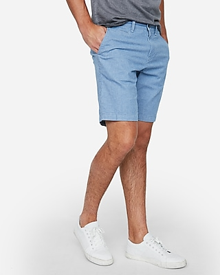 Express Mens Classic Fit 10 Inch Stretch Textured Shorts