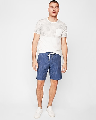 Express Mens 9 Inch Slub Drawstring Shorts