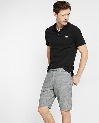 Classic Fit 10 Inch Linen-cotton Flat Front Shorts