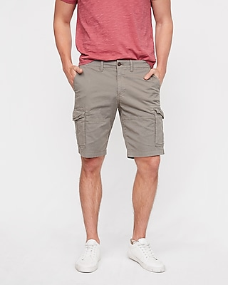 Express Mens Classic Fit 10 Inch Stretch Cargo Shorts