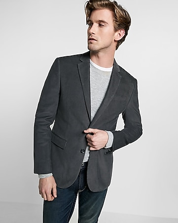 slim photographer corduroy blazer
