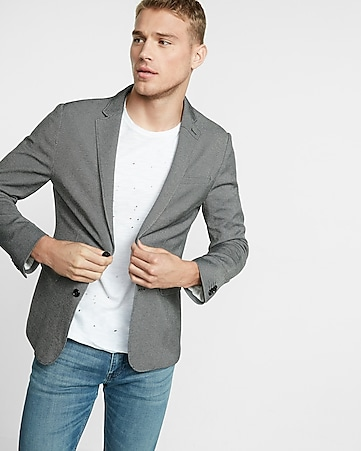 slim photographer double knit blazer