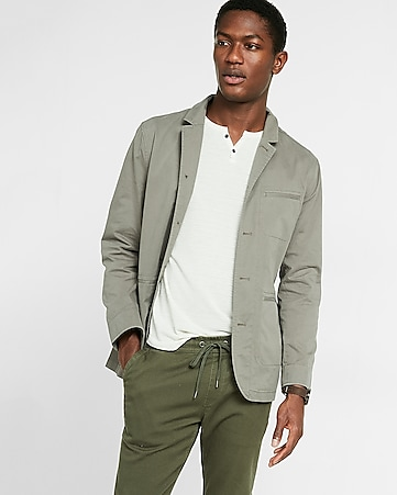 cotton military blazer