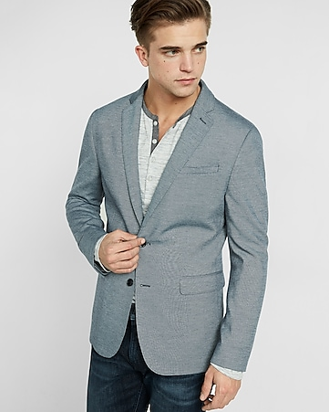 slim photographer double-knit blazer
