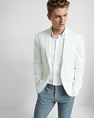 Express Mens Slim White Blazer