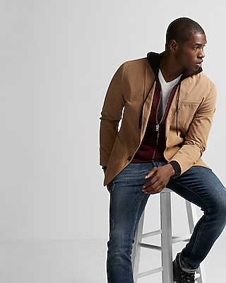 Express Mens Stretch Twill Blazer