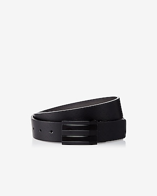 Express Mens Reversible Multi Stripe Plaque Belt