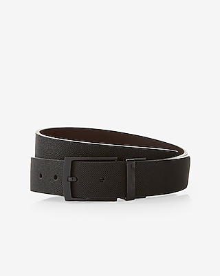 Express Mens Textured Strap Reversible Prong Belt