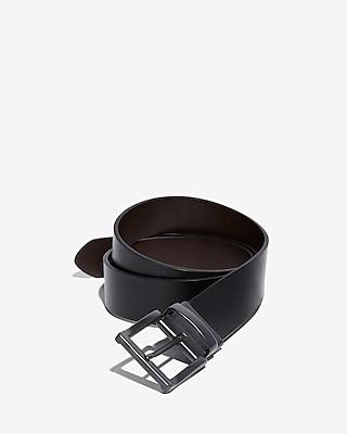 Express Mens Reversible Metal Prong Buckle Belt