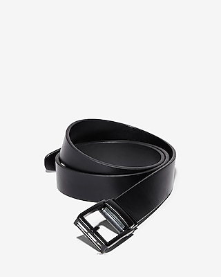 Express Mens Matte Black Single Prong Belt