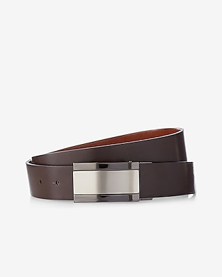 Express Mens Reversible Brushed Center Plaque Belt