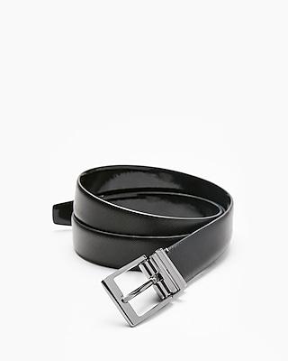 Express Mens Prong Buckle Tuxedo Leather Belt