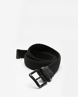 Express Mens Black Web Stretch Belt