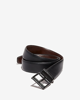 Express Mens Perforated Prong Reversible Stretch Belt
