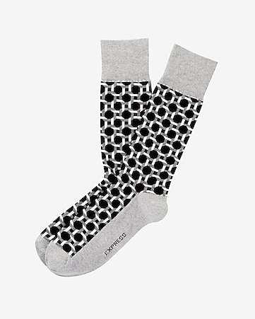 geo print dress socks