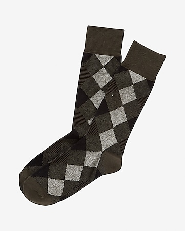diamond dress socks