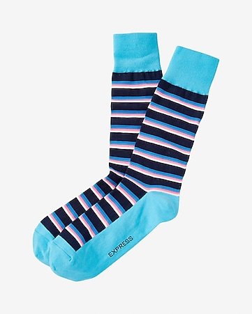 louis stripe dress socks