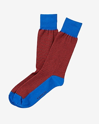 Express Mens Striped Dress Socks