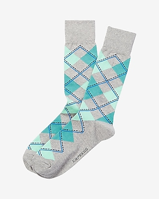 Express Mens Argyle Print Dress Socks