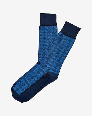 Check Print Dress Socks