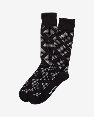 Express Mens Geometric Print Dress Socks