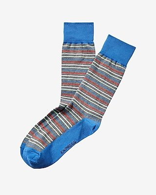 Express Mens Bright Stripe Dress Socks