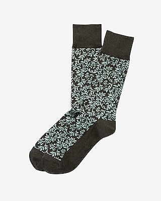 Express Mens Floral Print Dress Socks