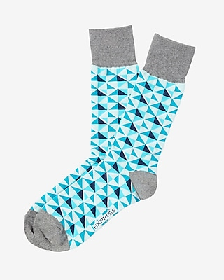 Diamond Print Dress Socks