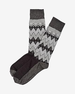 Express Mens Zigzag Stripe Dress Socks