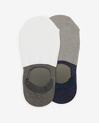 Express Mens 2 Pack Colorblock Loafer Socks