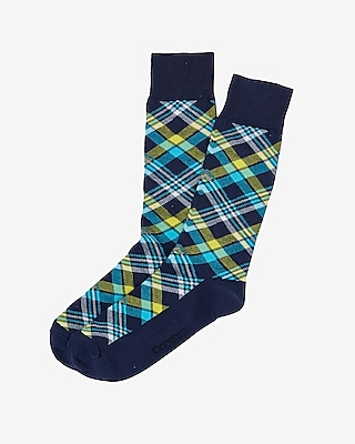 Express Mens Plaid Dress Socks