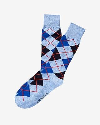 Express Mens Anchor Print Dress Socks