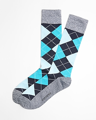 Express Mens Argyle Dress Socks