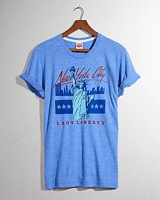 Express Mens Homage Statue Of Liberty Crew Neck Tee