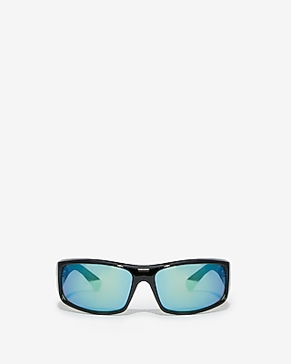 Express Mens Turquoise Tinted Sport Sunglasses