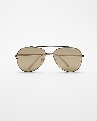 Express Mens Bronze Aviator Sunglasses