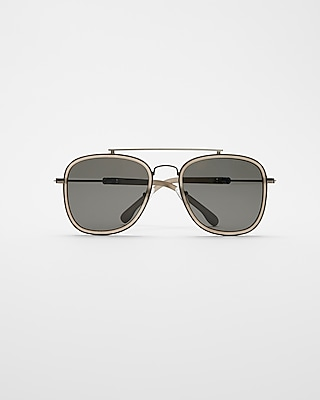 Express Mens Charcoal Rim Aviators