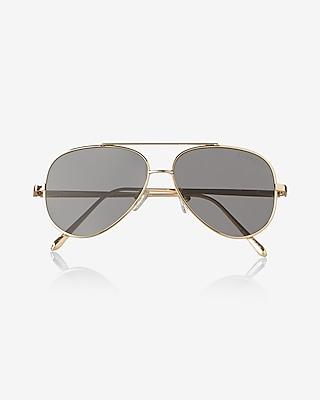 Express Mens Flat Lens Aviator Sunglasses