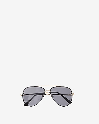 Express Mens Rimless Aviator Sunglasses