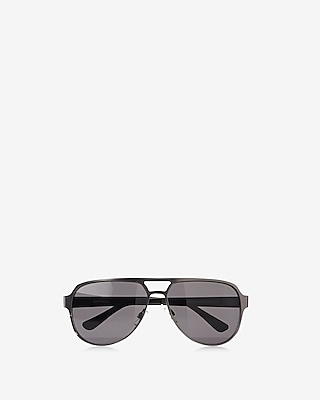 Express Mens Two Tone Aviator Sunglasses