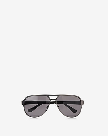 two tone aviator sunglasses