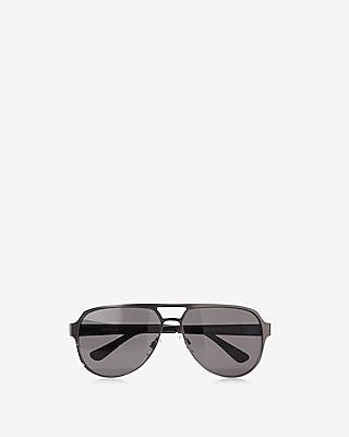 Dark Black Aviator Sunglasses